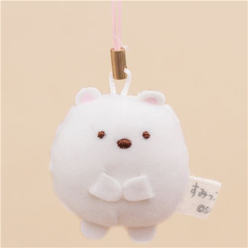 mini Sumikkogurashi bear cute plush charm by San-X