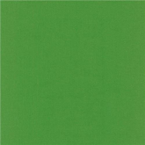 Grasshopper solid green Kona fabric Robert Kaufman USA