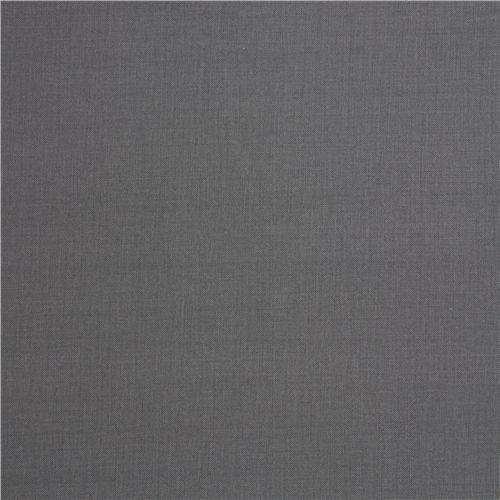 solid dark grey fabric Robert Kaufman USA Graphite