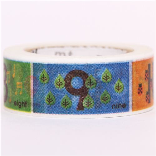 number figure mt Washi Masking Tape deco tape