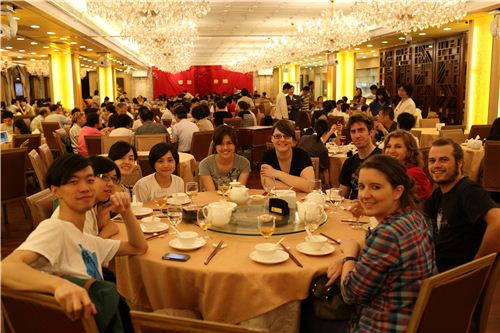 Everybody really enjoyed the food at the restaurant in the evening