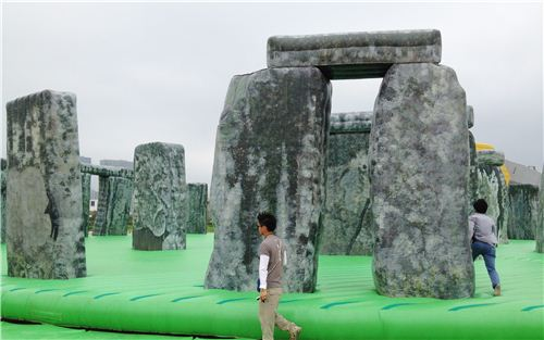 The whole exhibit was a huge bouncing castle