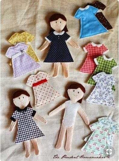 Dolls and dresses by theprudenthomemaker.com