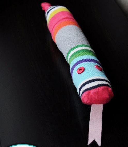 What a fun snake, made by Jill Dubien!