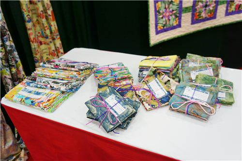 They also had cool fabric bundles from their different collections at their booth
