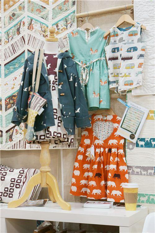 kawaii childrens clothes made with birch fabrics