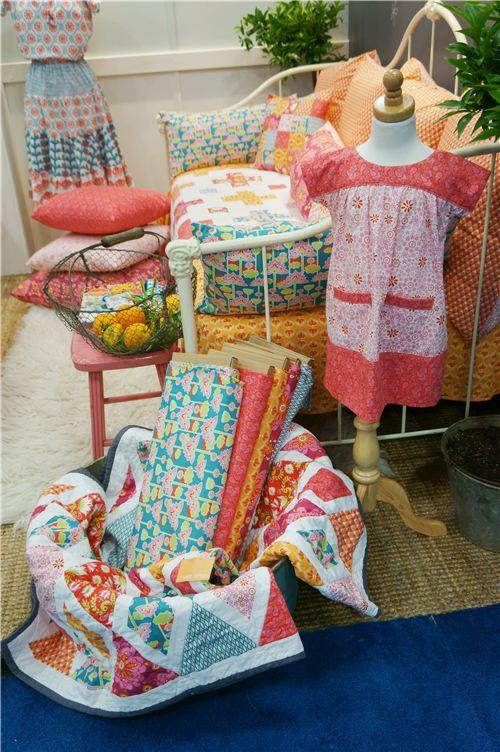 Beautiful new fabrics and dresses on display