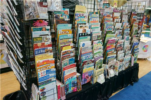 Lots and lots of sewing books and magazines