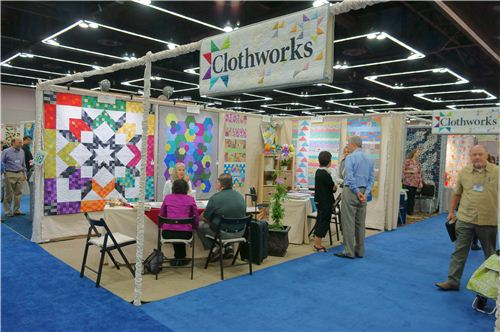 The Clothworks booth - we carry some of their fabrics as well