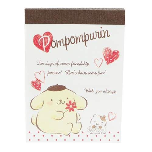 cute Pompompurin dog dot heart mini Note Pad by Kamio from Japan