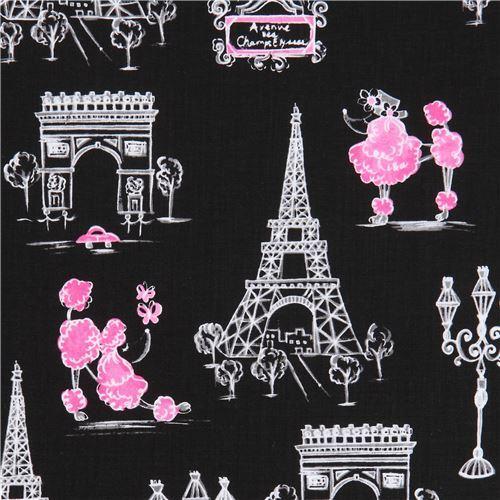 black fabric white grey Eiffel Tower Paris Ink & Arrow