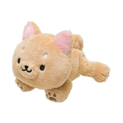 cute beige Iiwaken dog plush toy with collar