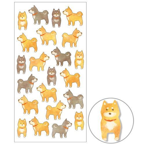 cute colorful dog semi transparent tie-dye style stickers Mind Wave