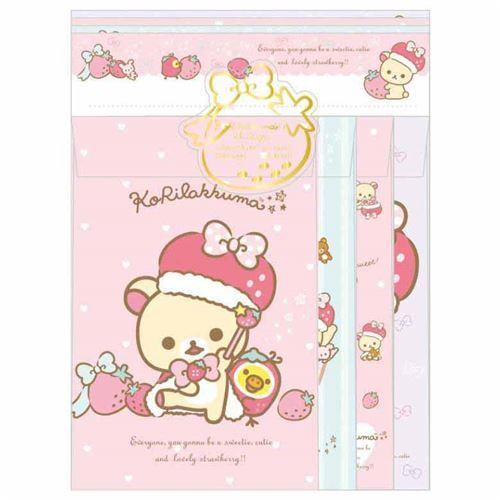cute Korilakkuma bear strawberry Letter Paper Set by San-X
