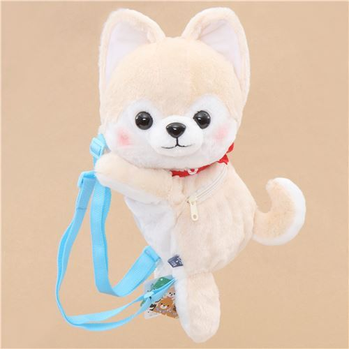 big cream white dog Mameshiba San Kyodai backpack plush from Japan