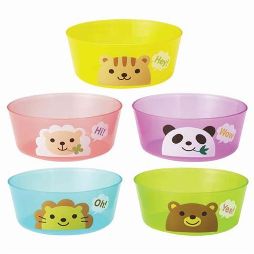 colourful animal plastic bowls party plate set