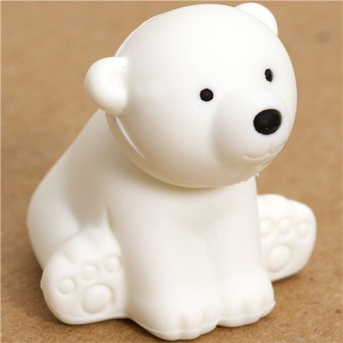 white polar bear eraser by Iwako from Japan