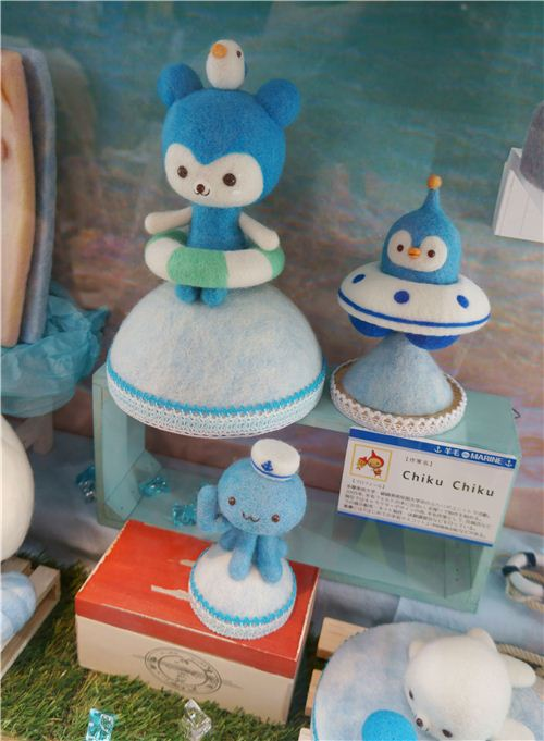 kawaii felt animals in sailor theme