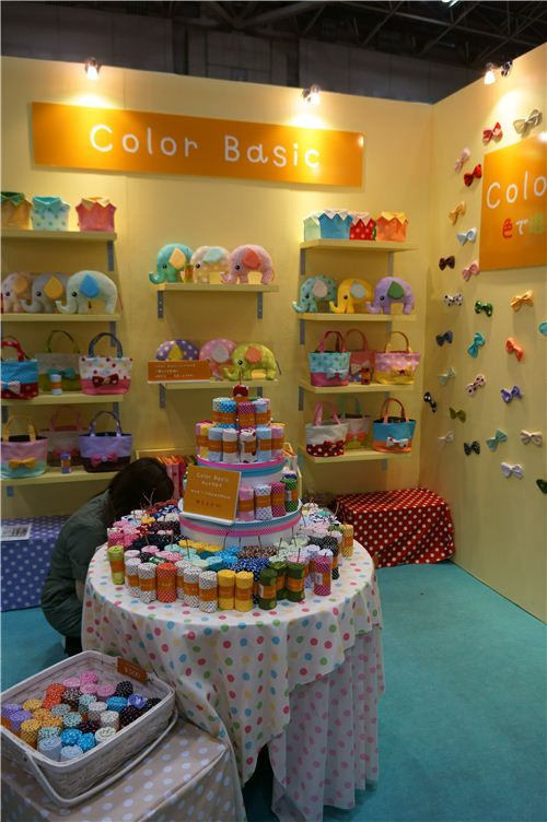 The fabric booths looked very colourful and cute