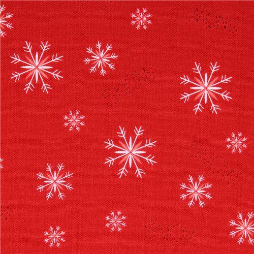 red snowflake winter Christmas fabric Simply Christmas