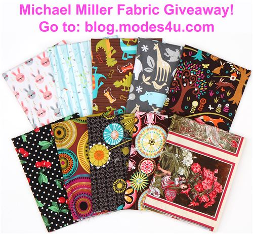 Win awesome Michael Miller designs to sew with!!
