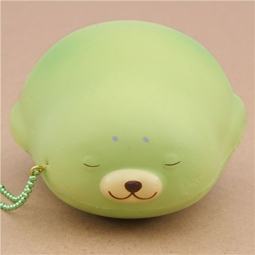 cute green mochi seal animal scented squishy by Puni Maru