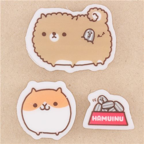 cute hamster seed pet eraser 3pcs from Japan