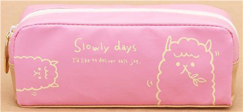 pink alpaca animal pencil case from Japan