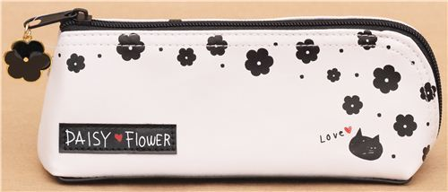 white daisy flower pencil case from Japan