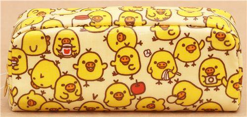yellow Rilakkuma chick apple pencil case by San-X