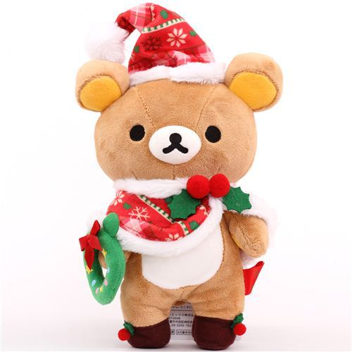 Rilakkuma brown bear Santa Claus Xmas plush toy San-X Japan