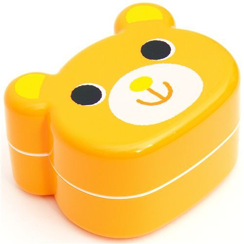 cute yellow Bear Bento Box Japanese lunch box