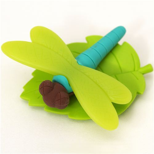 green dragonfly eraser by Iwako from Japan