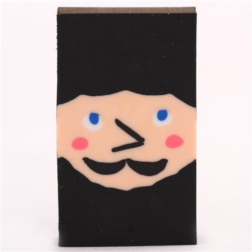 Blackbeard shaver face transforming shape change eraser from Japan