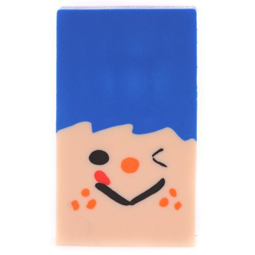 blue rascal shape change face eraser from Japan