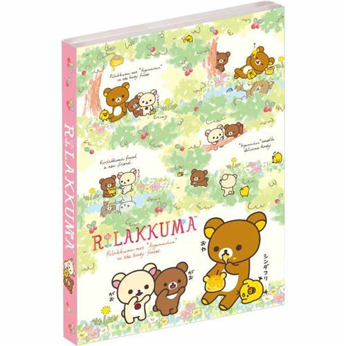 cute Rilakkuma friends red berry mini memo pad book by San-X