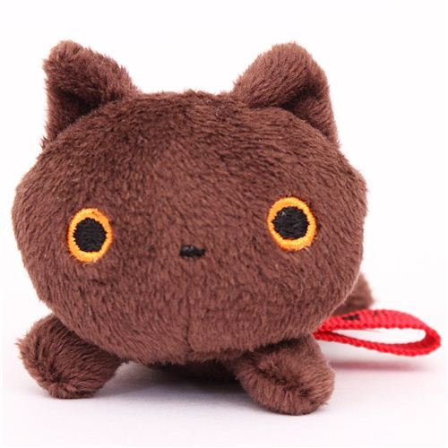 brown mini Kutusita Nyanko cat plush toy San-X Japan