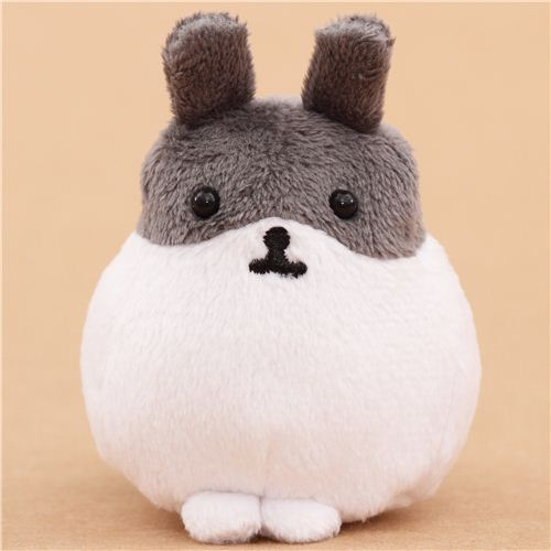 white-grey Mofutans mochi rabbit plush toy by San-X from Japan