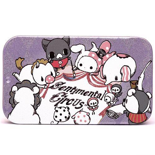 purple Sentimental Circus painting case pill box