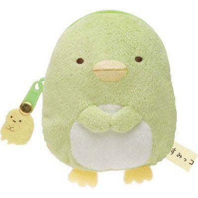 kawaii green Sumikkogurashi penguin plush pouch wallet