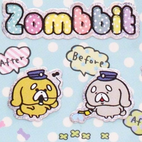 funny Zombbit zombie rabbit stickers from Japan