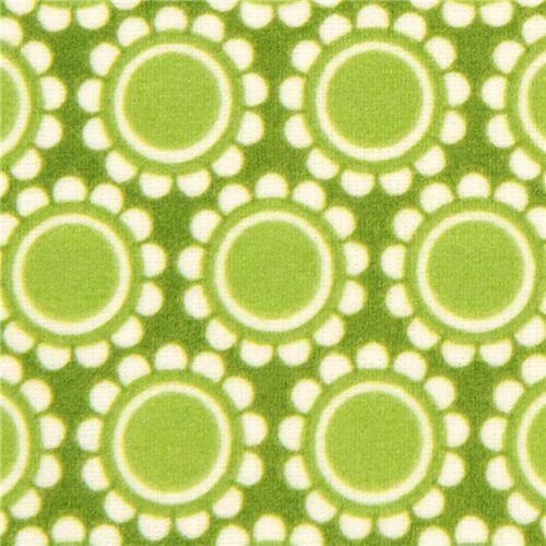 green florets flannel fabric by Robert Kaufman