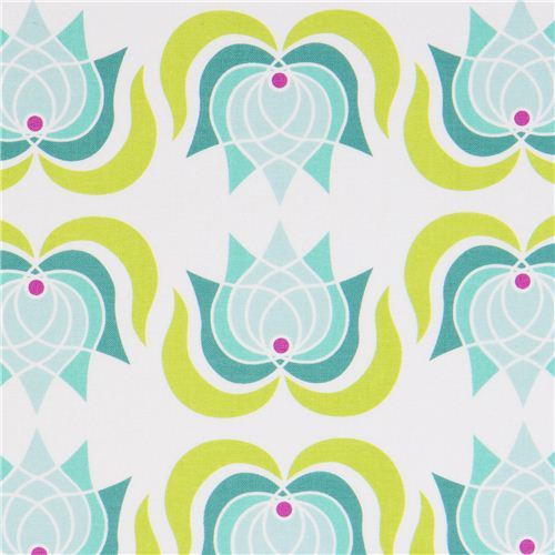Michael Miller fabric with lotus flowers by Patty Young