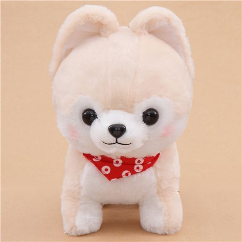 big cream white Mameshiba San Kyodai plush toy from Japan
