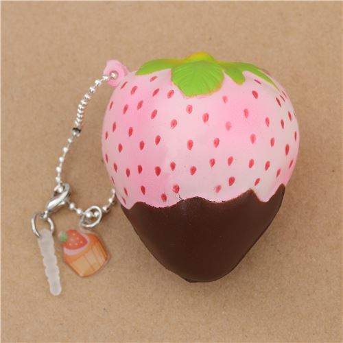 Mini Cheeki Strawberry Rare Pineberry brown sauce scented squishy by Puni Maru