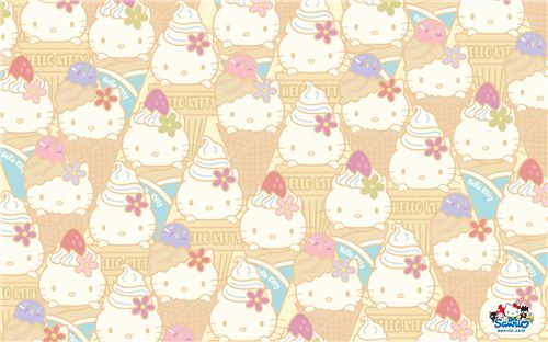 Hello Kitty cream cone wallpaper