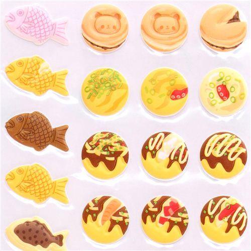 3D sponge sticker set Kamio Japanese food street food