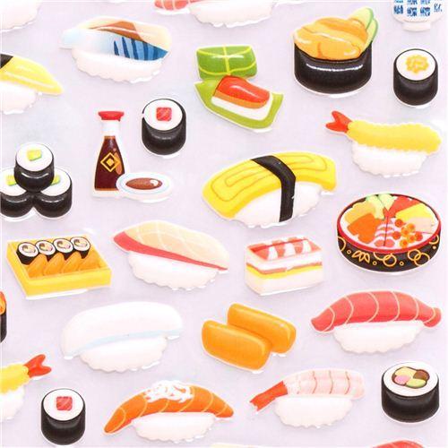 Japanese Sushi 3D sponge sticker book set by Kamio