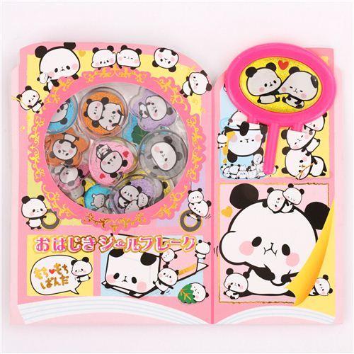Mochi stretchy panda sticker sack flake stickers Kamio