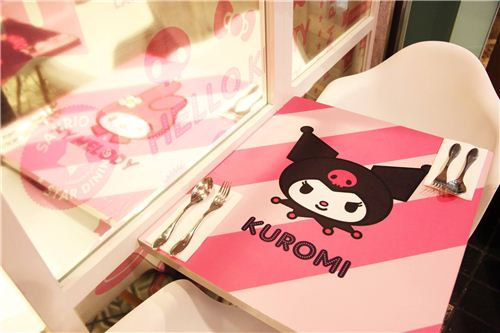 kawaii Kuromi table deisgn, photo by Langham Place